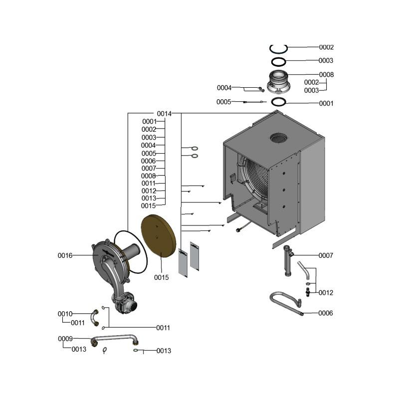 Poza Schimbator centrala termica Viessmann Vitodens 200-W B2HA 150 kW. Poza 8426
