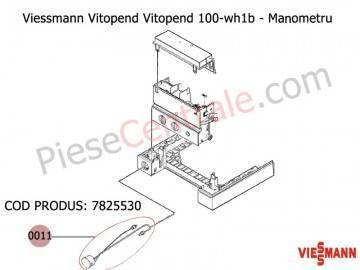 Poza Manometru centrala termica Viessmann Vitopend 100 WH1B