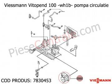 Poza Pompa circulatie centrala termica Viessmann Vitopend 100 WH1B
