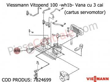 Poza Vana cu 3 cai ( cartus servomotor ) centrala termica Viessmann Vitopend 100 WH1B