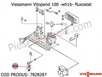 Poza Fluxostat centrale termice Viessmann Vitopend 100 WH1B