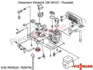 Poza Fluxostat centrale termice Viessmann Vitopend 100 WH1D, Vitodens 100 WB1B