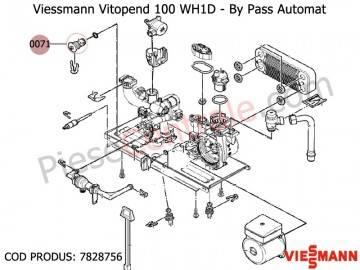 Poza  By Pass automat centrale termice Viessmann Vitopend 100 WH1D, Vitodens 100 WB1B