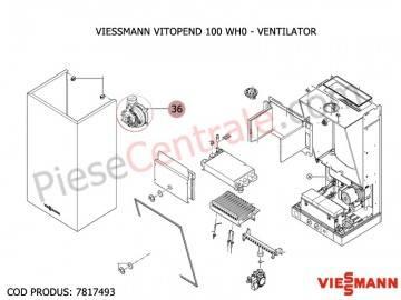 Poza Suflanta (ventilator) pentru centrale termice Viessmann Vitopend 100 WH0