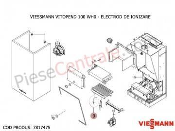 Poza Electrod de ionizare centrala termica Viessmann Vitopend 100 WH0
