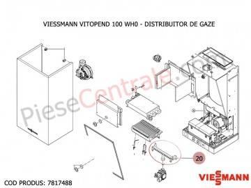 Poza Distribuitor de gaze centrala termica Viessmann Vitopend 100 WH0