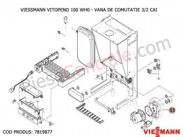 Poza Vana de comutatie 3/2 cai centrale termice Viessmann Vitopend 100 si Vitodens 200