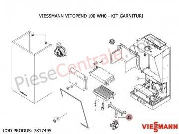Poza Kit garnituri centrala termica Viessmann Vitopend 100 WH0