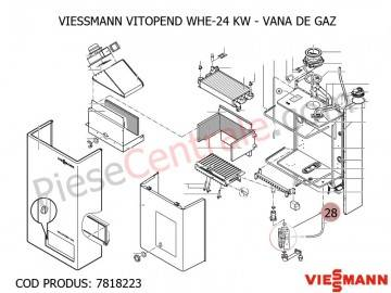 Poza Vana de gaz centrala termica Viessmann Vitopend WHE