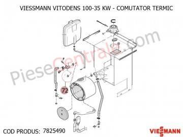 Poza Comutator termic centrale termice Viessmann Vitodens 100, Vitodens 200, Vitopend 111-W WHSB turbo