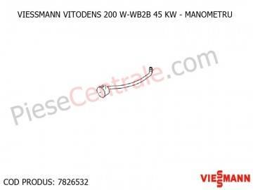Poza Manometru 0-6 bari cu furtun flexibil centrala termica Viessmann VITODENS 200 W-WB2B 45 KW