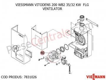 Poza Ventilator centrala termica Viessmann Vitodens 200