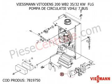 Poza Pompa de circulatie VIHU/ 7 BUS centrala termica Viessmann Vitodens 200