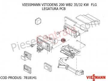 Poza Legatura PCB centrala termica Viessmann Vitodens 200