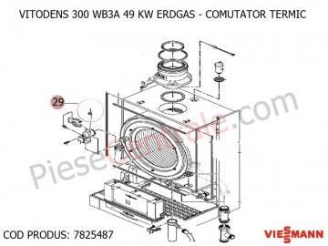 Poza Electrod ionizare centrala termica Viessmann Vitodens 300