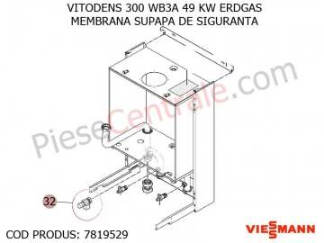 Poza Membrana supapa de siguranta centrala termica Viessmann Vitodens 300