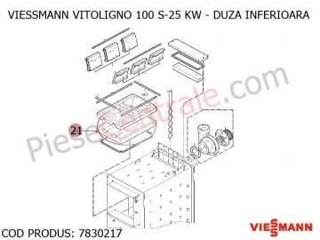 Poza Duza inferioara centrala pe lemne Viessmann Vitoligno 100 S 25 kw