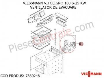 Poza Ventilator de evacuare centrala pe lemne Viessmann Vitoligno 100 S