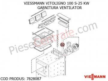 Poza Garnitura ventilator centrala pe lemne Viessmann Vitoligno 100 S