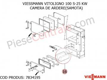 Poza Samota camera de ardere centrala pe lemne Viessmann Vitoligno 100 S