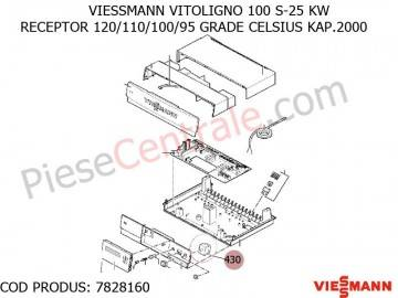 Poza Receptor 120/110/100/95 GRADE CELSIUS KAP.2000 centrala pe lemne Viessmann Vitoligno 100 S