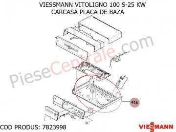 Poza Carcasa placa de baza centrala pe lemne Viessmann Vitoligno 100 S