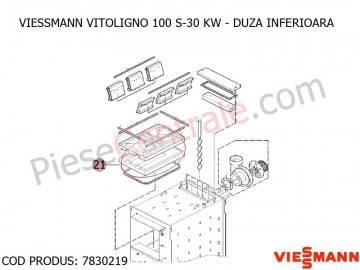 Poza Duza inferioara centrala pe lemne Viessmann Vitoligno 100 S 30 kw