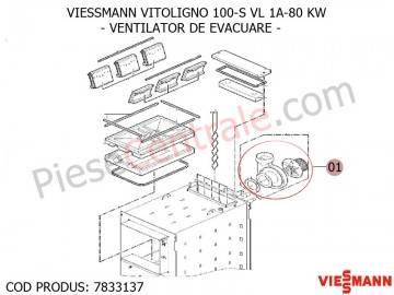 Poza Ventilator de evacuare centrala pe lemne Viessmann Vitoligno 100 S VL 1A-80 KW