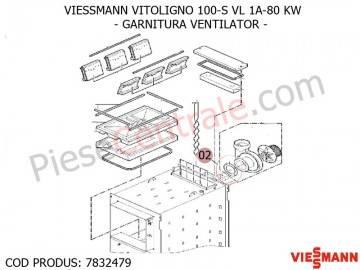 Poza Garnitura ventilator centrala pe lemne Viessmann Vitoligno 100 S VL 1A-80 KW