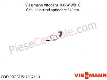 Poza Cablu electrod aprindere 5k0hm centrala termica Viessmann Vitodens 100-W WB1C
