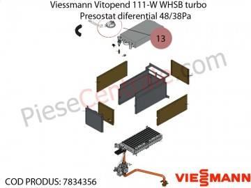 Poza Presostat diferential 48/38Pa centrala termica Viessmann Vitopend 111-W WHSB turbo