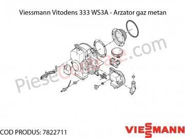 Poza Arzator gaz metan centrala termica Viessmann Vitodens 333 WS3A