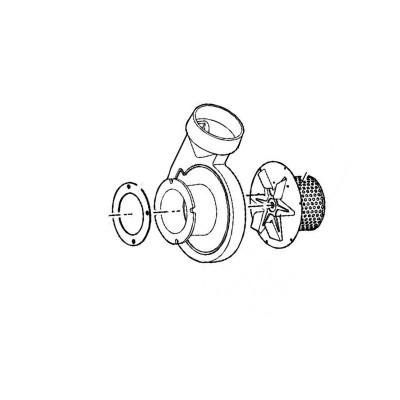 Poza Ventilator de evacuare inclusiv carcasa de fonta centrala pe lemne Viessmann Vitoligno 100 S VL 1A-80 KW. Poza 8317